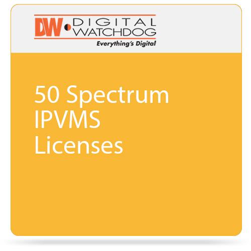 Digital Watchdog 50 Spectrum IPVMS Licenses