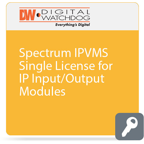 Digital Watchdog DW Spectrum IPVMS Single License for IP Input/Output Modules