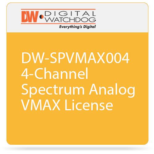 Digital Watchdog DW-SPVMAX004 4-Channel Spectrum Analog VMAX License