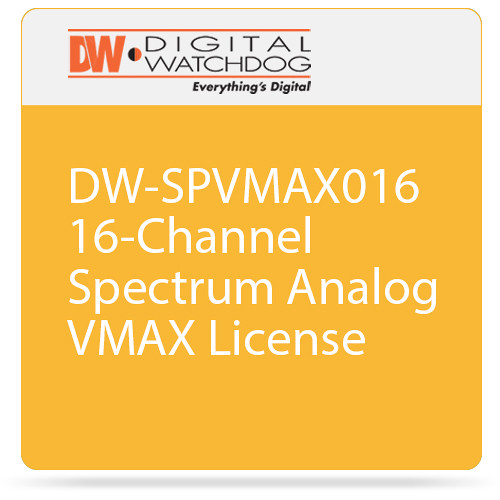 Digital Watchdog DW-SPVMAX016 16-Channel Spectrum Analog VMAX License