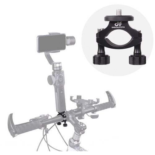 DigitalFoto Solution Limited Bicycle Clamp Mount for Smartphone/Action Camera Gimbal Smooth 4 OSMO Mobile 2 & Action Cameras