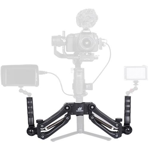 DigitalFoto Solution Limited Dual Spring Handle for Single-Handed Gimbal Ronin S/Zhiyun Series/Feiyu Series (Black)