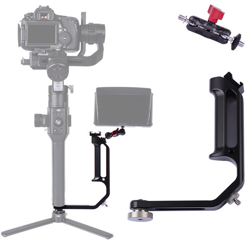 DigitalFoto Solution Limited Universal L-Bracket with Cold Shoe Mount for Single-Handle Gimbal