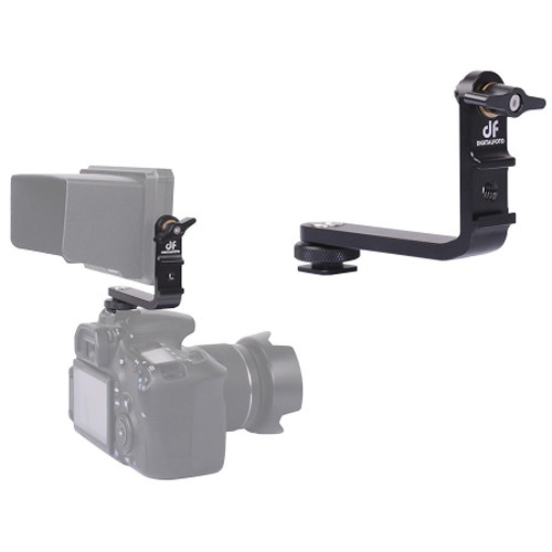 DigitalFoto Solution Limited Monitor 360 Rotation L Bracket with Cold Shoe Mount