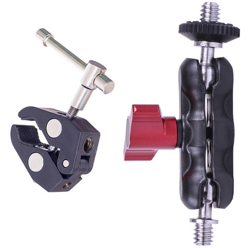 """DigitalFoto Solution Limited Magic Bean 1/4""""-20 Ball Head Arm Kit with Clamp Mount"""