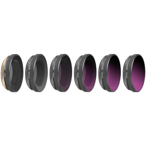 DigitalFoto Solution Limited MCUV+CPL+ND4+ND8+ND16+ND32 Filters for DJI Osmo Action (Set of 6)