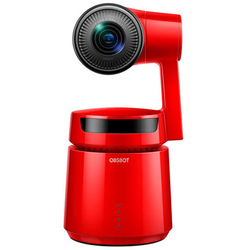 DigitalFoto Solution Limited OBSBOT Tail Auto Director AI 360/60FPS 4K Video Camera with 1850 mAh Battery (Red)