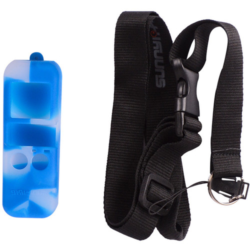 DigitalFoto Solution Limited Silicone Case with Lanyard for DJI Osmo Pocket (Blue and White)