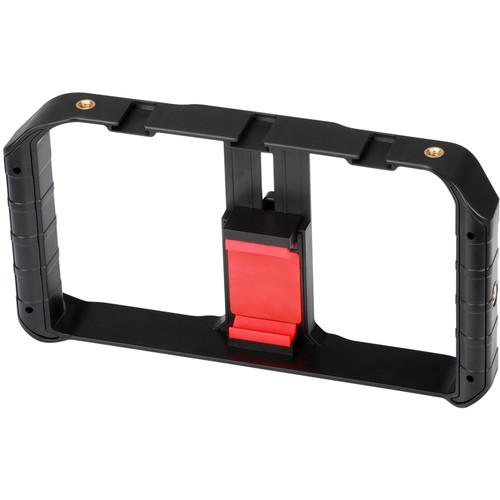DigitalFoto Solution Limited Smartphone Video Rig W 3 Shoe Mounts Filmmaking Case Handheld Phone Video Stabilizer Grip Tripod Mou