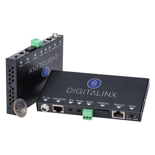 Digitalinx HDMI, IR, RS-232, & Ethernet Extender Kit over CATx with Power Supply (330')
