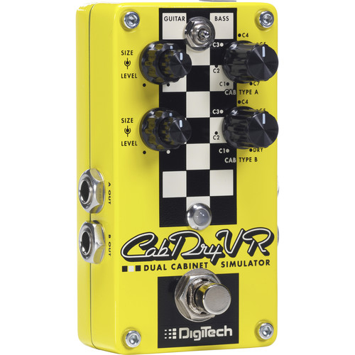 DigiTech CabDryVR Dual Cabinet Simulator Pedal for Electric Guitar
