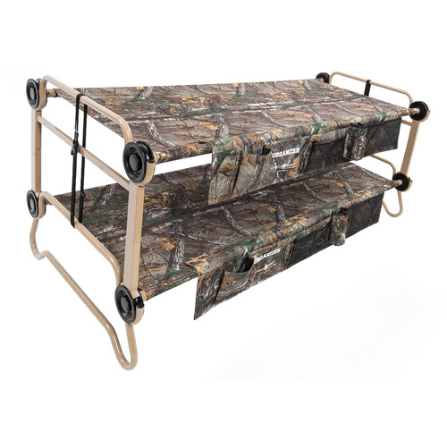 Disc-O-Bed XL Cam-O-Bunk Kit with Organizers (Realtree Xtra Canvas, Beige Frame)