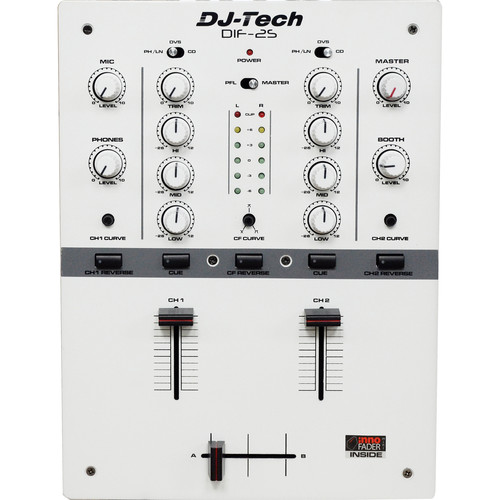DJ-Tech DIF-2S 2-Channel DJ Mixer (White)