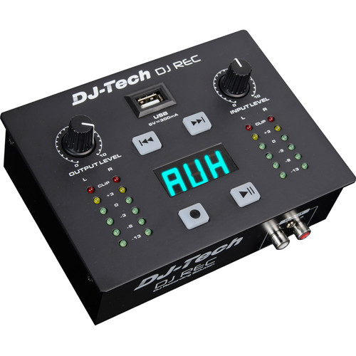 DJ-Tech DJ REC Portable MP3 Recorder and Player with Built-In LED Display