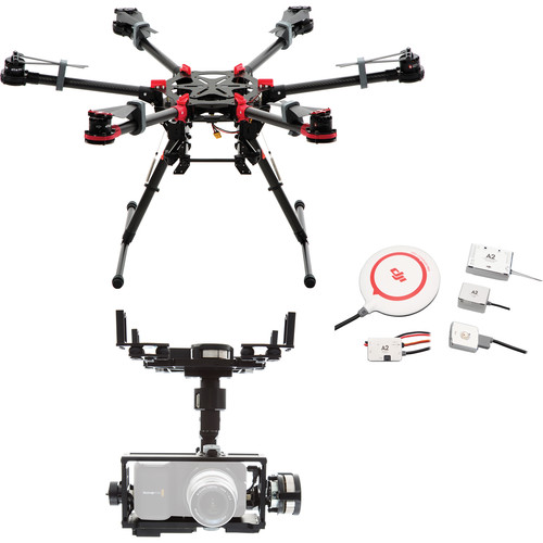 DJI Spreading Wings S900 with Zenmuse Z15-BMPC Gimbal (A2 Flight Controller)