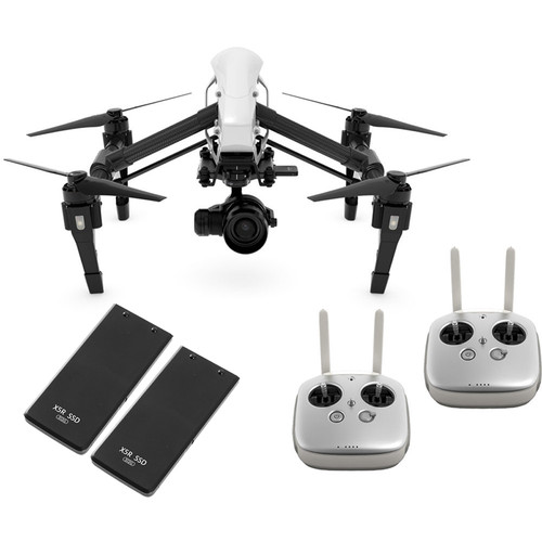 DJI Inspire 1 v2.0 RAW Quadcopter with Zenmuse X5R 4K and Two Extra 512GB SSDs