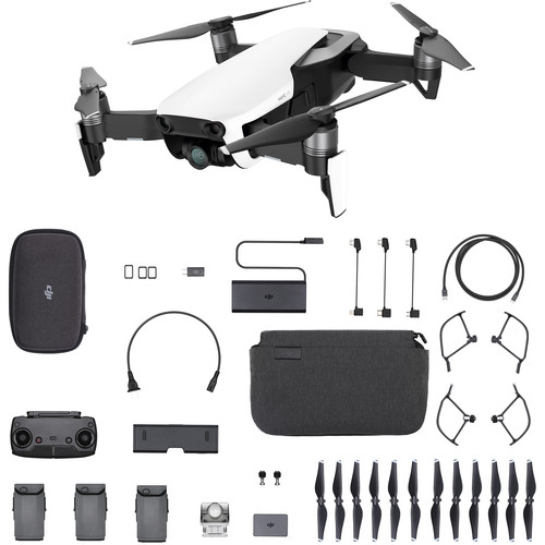 DJI RACING Air 4K Camera 3-Nabe Gimbal 32MP Sphere Panoramas Foldable RC Drone Fly More Meriva - Arctic White