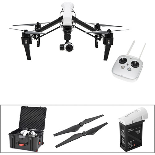 DJI Inspire 1 Bundle with Spare Battery, Spare Props, and Hard Case