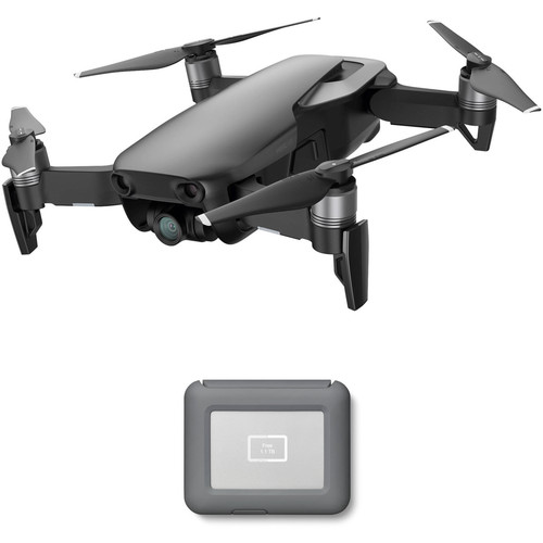DJI Mavic Air Drone with LaCie 2TB Copilot BOSS Hard Drive Kit (Onyx Black)