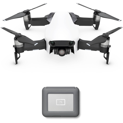 DJI Mavic Air Drone with LaCie 2TB Copilot BOSS Hard Drive Kit (Arctic White)