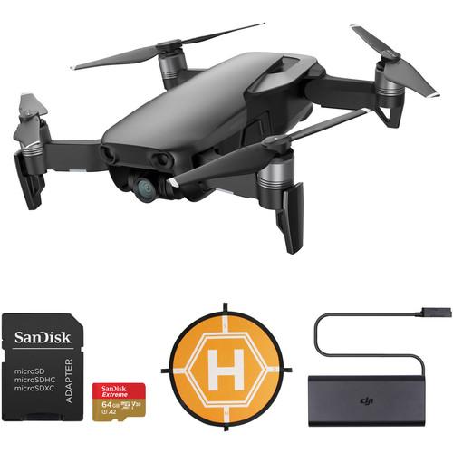 DJI Mavic Air Drone with 64GB Card & Landing Pad Kit (Onyx Black)