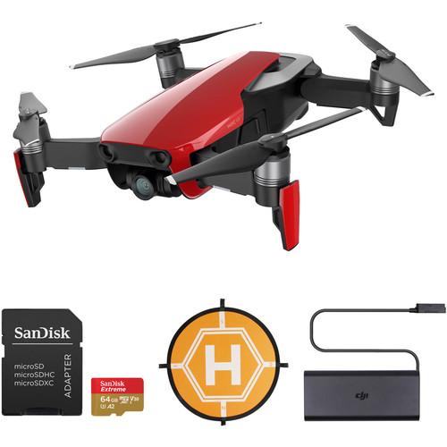 DJI Mavic Air Drone with 64GB Card & Landing Pad Kit (Flame Red)