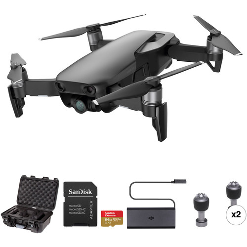 Dji Mavic Air Drone With Hard Case And 64 Gb Card Kit (Onyx Black) by Dji