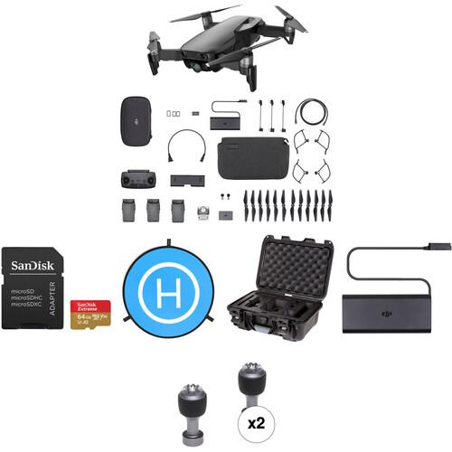 DJI Mavic Air Fly More Drone with 64GB Card & Landing Pad Kit (Onyx Black)