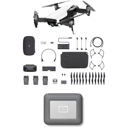 DJI Mavic Air Fly More Drone with 2TB Copilot BOSS Hard Drive Kit (Arctic White)