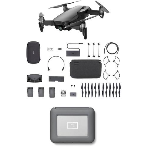 DJI Mavic Air Fly More Drone with 2TB Copilot BOSS Hard Drive Kit (Onyx Black)