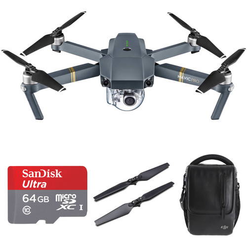 DJI Mavic Pro Bundle with Backpack and Accessories