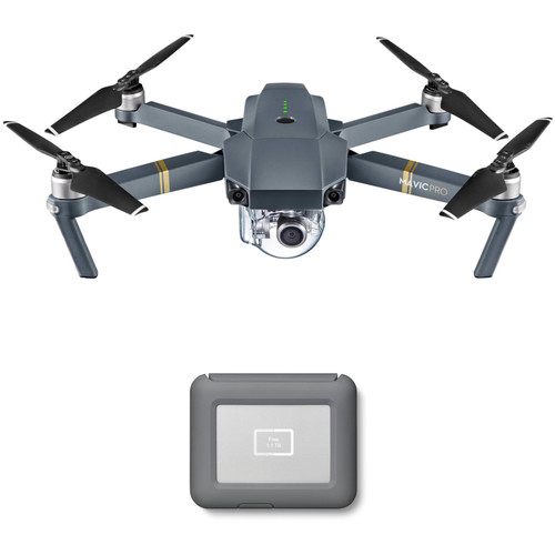 DJI Mavic Pro Drone with LaCie 2TB Copilot BOSS Hard Drive Kit