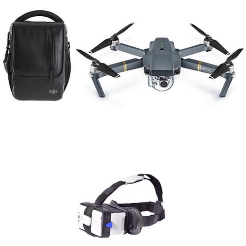 DJI Mavic Pro Fly More Combo Kit with CINEMA2GO MoGo Smartphone Headset