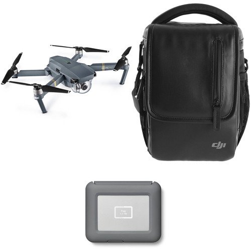 DJI Mavic Pro Fly More Drone with LaCie 2TB Copilot BOSS Hard Drive Kit