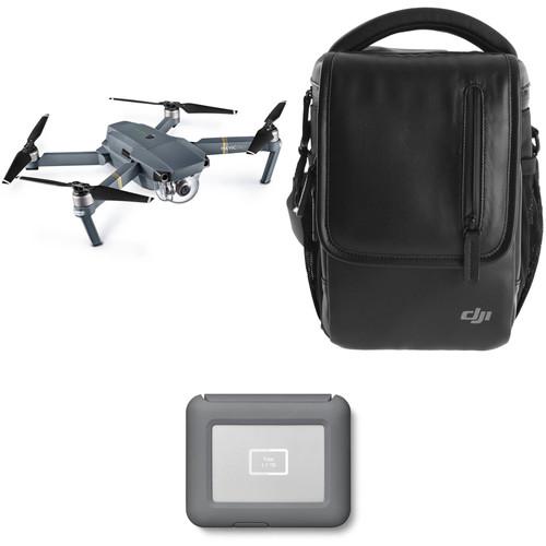 DJI Mavic Pro Fly More Drone with LaCie 2TB Copilot BOSS Hard Drive Kit