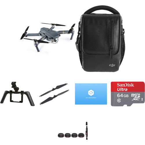 DJI Mavic Pro Fly More Combo with Care Refresh and Accessories