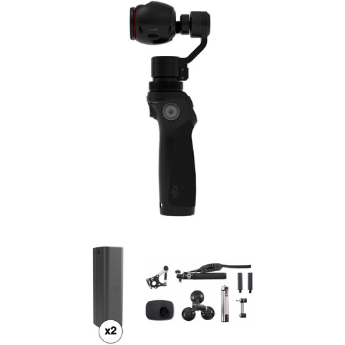 DJI Osmo Gimbal with 4K Camera & Sport Accessory Kit + Extra Batteries