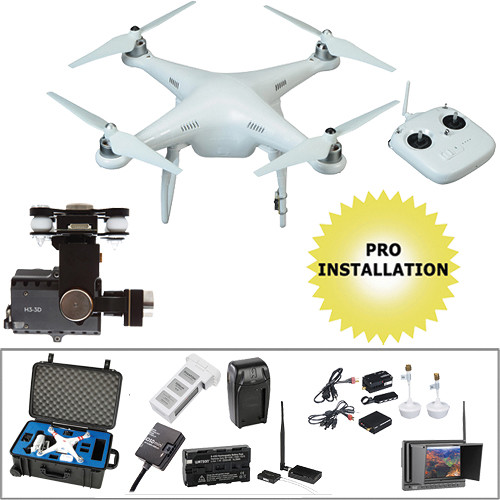 DJI Phantom 2 v2.0 Pre-Assembled Bundle with FPV Monitor, BT Datalink, & Hard Case
