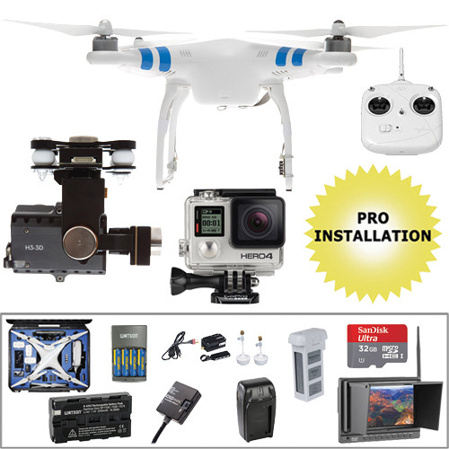 DJI Phantom 2 Pre-Assembled Bundle with GoPro HERO4 Silver and Hard Case