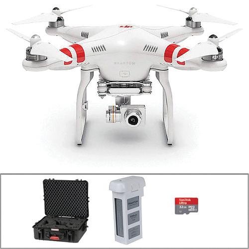 DJI Phantom 2 Vision+ v2.0 Quadcopter with Hard Case and Extra Battery Bundle
