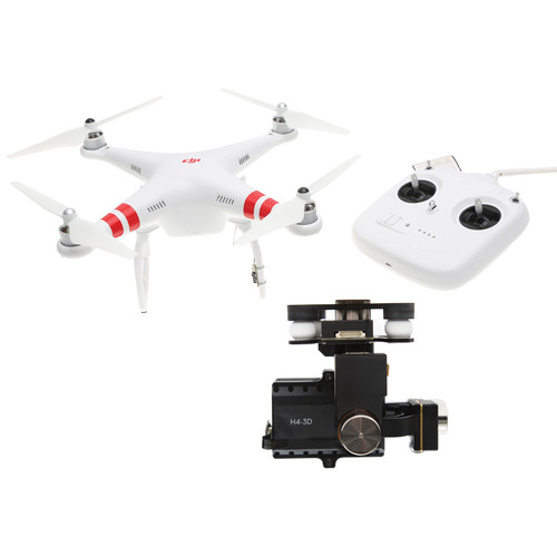 DJI Phantom 2 Bundle with H4-3D Gimbal, FPV Monitor, iOSD and Backpack (Black)