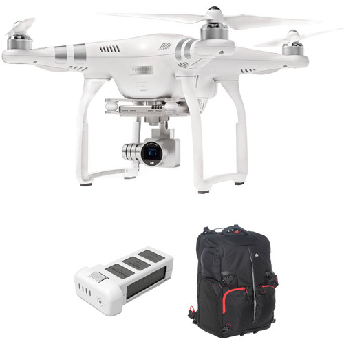 DJI Phantom 3 Advanced with 2.7K Camera and Battery Bundle with Backpack