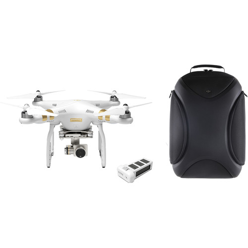 DJI Phantom 3 Professional with 4K Camera and Battery Bundle with Hardshell Backpack