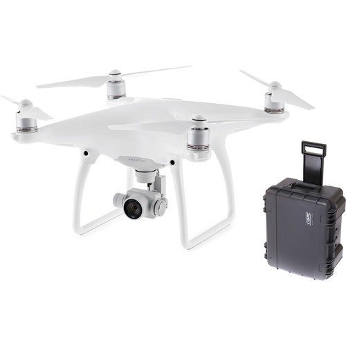 DJI Phantom 4 Quadcopter Bundle with Compact Wheeled Case