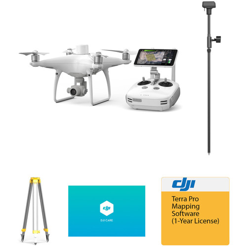 DJI Phantom 4 RTK with D-RTK 2 Mobile Station, Shield Basic, and Accessories Kit