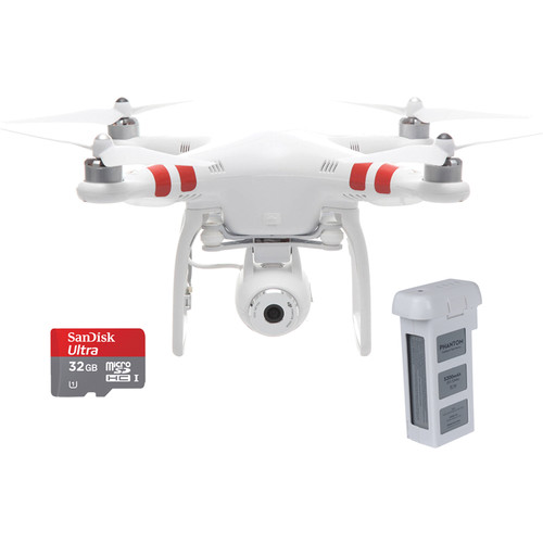 DJI Phantom 2 Vision Quadcopter with FPV Camera and Spare Battery Kit