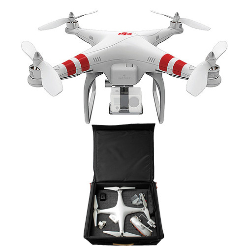 DJI Phantom Quadcopter with GoPro Mount and Backpack