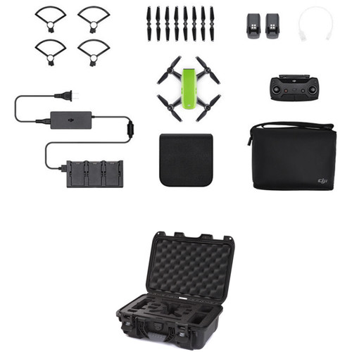 DJI Spark Fly More Combo with Waterproof Case Kit (Meadow Green)