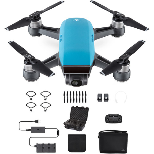 DJI Spark Fly More Combo with Waterproof Case Kit (Sky Blue)