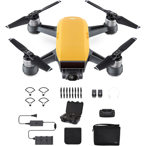 DJI Spark Fly More Combo with Waterproof Case Kit (Sunrise Yellow)